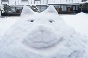 わさお雪像