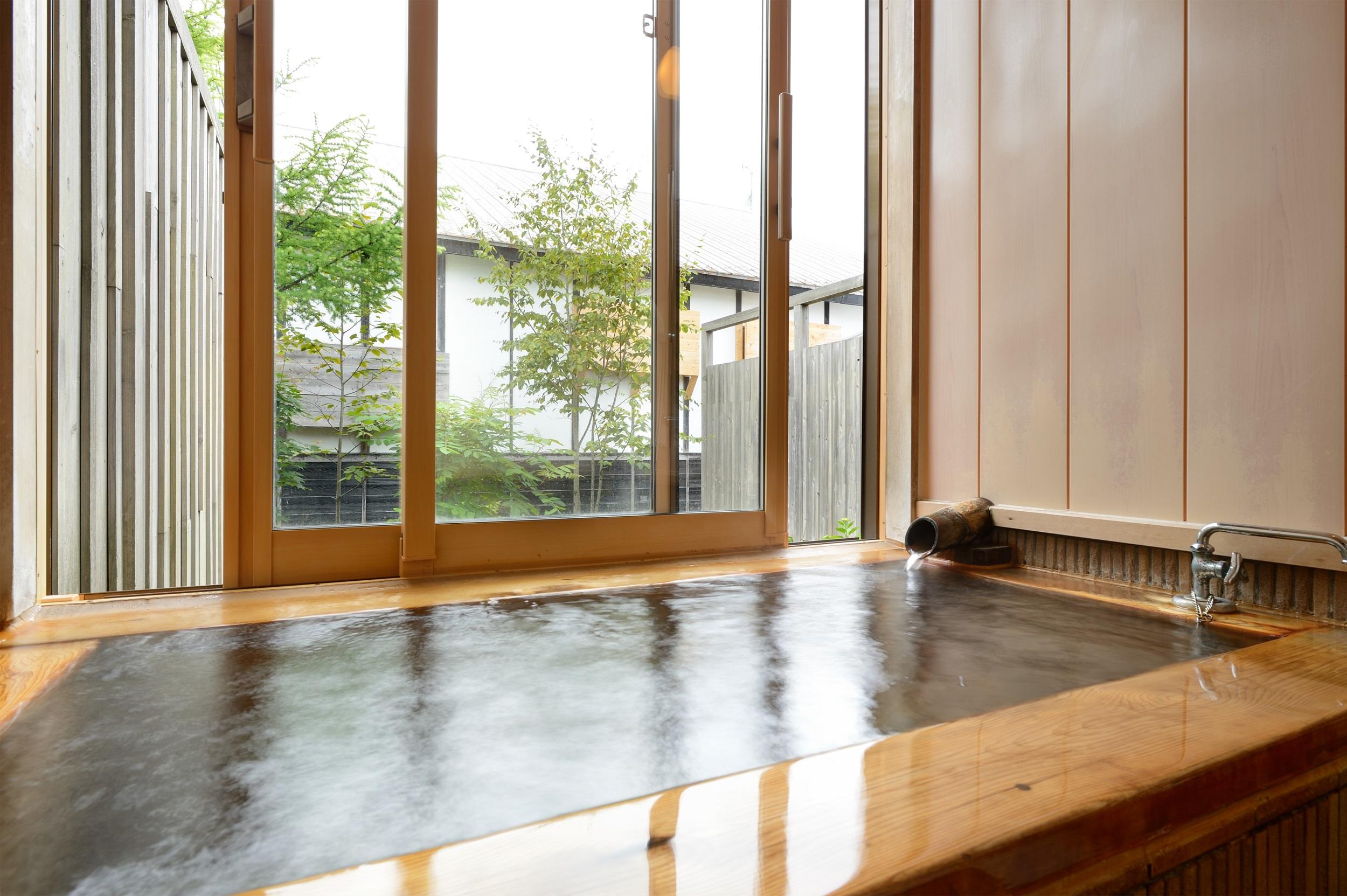 夢人の海-客室温泉内風呂イメージ